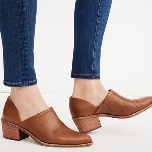 Madewell Brady Lowcut Brown Leather Booties